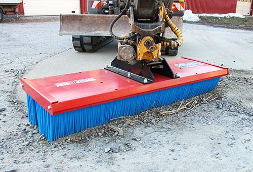 SweepAway push broom for excavator