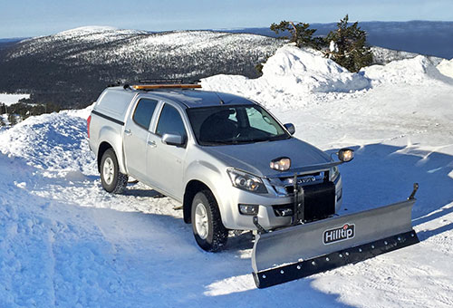 SnowStriker snowplow for pickup