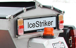 IceStriker spreader license plate