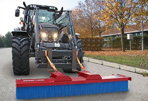 SweepAway forklift broom