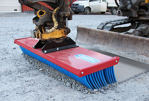 SweepAway push broom for excavator