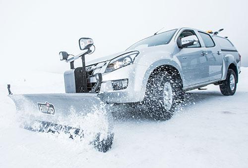 SnowStriker straight plow