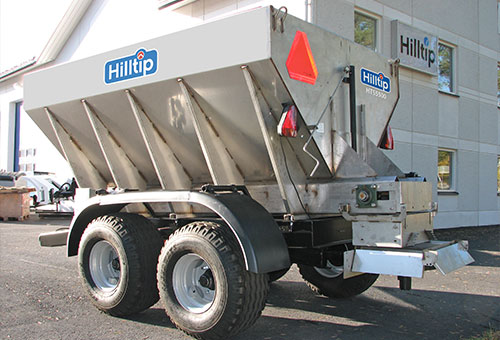 Truck steel salt spreader