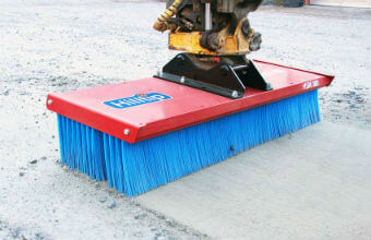SweepAway broom on excavator