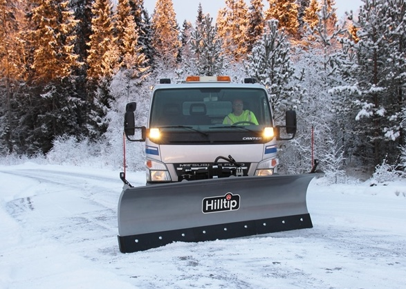 Hilltip Snowplow mounted on truck