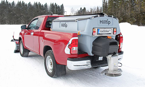 Hilltip Salt spreader on pickup