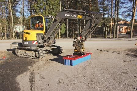 SweepAway broom mounted on excavator