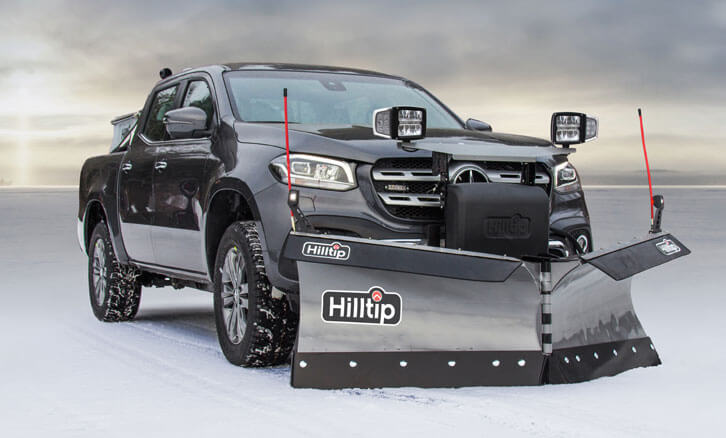 Mercedes-Pickup equipped with Hilltip Snowplow